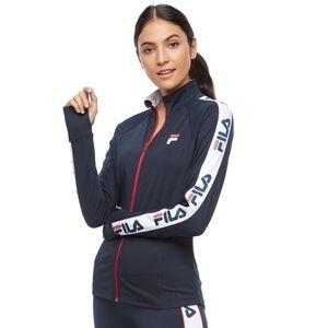 Fila Sport Graphic Sleeve Track Jacket Coat Navy